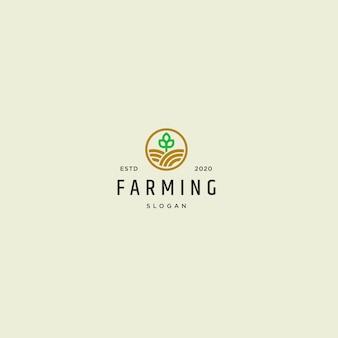 Logo de agricultura vintage retro