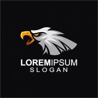 Logo de águila enojada