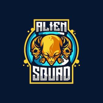 Logo de alien squad