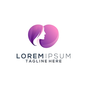 Logo de amor mujer colorido