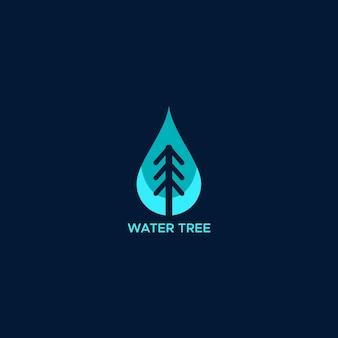 Logo de arbol de agua