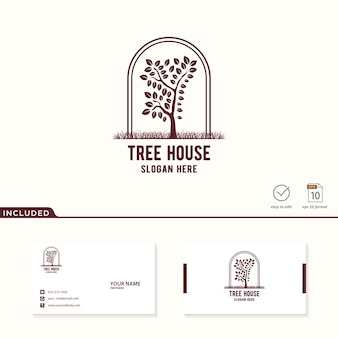 Logo del árbol incluido tarjeta de visita