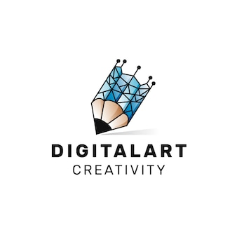 Logo de arte digital