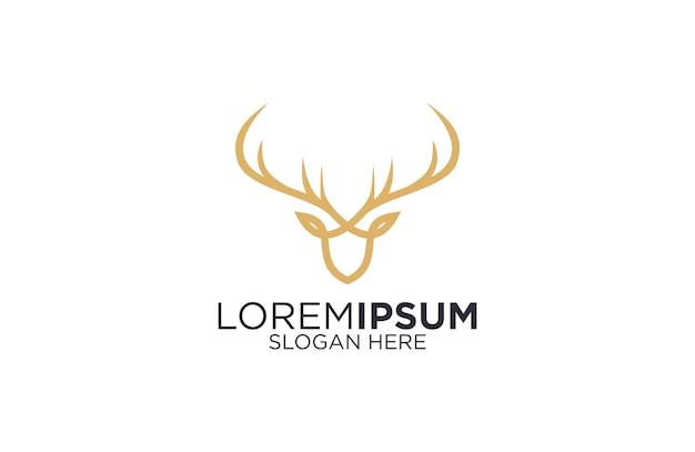 Logo de arte de línea de ciervo