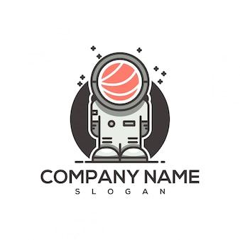 Logo de astronauta sushi