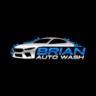 Logo de auto lavado