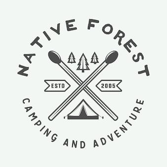 Logo de aventura, insignia