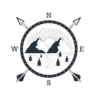 Logo de aventura de montaña