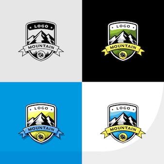 Logo de aventura, senderismo y escalada