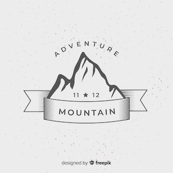 Logo de aventura vintage