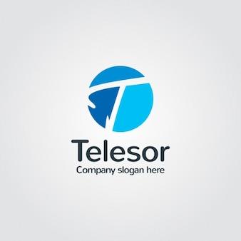 Logo azul de compañía