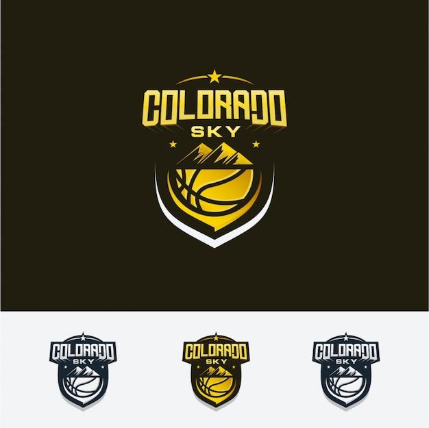 Logo de baloncesto del cielo