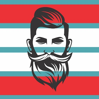 Logo de barba hombre