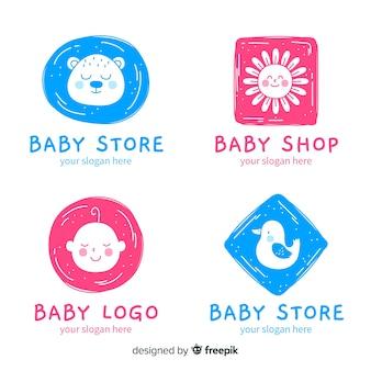 Logo de bebé en diseño plano