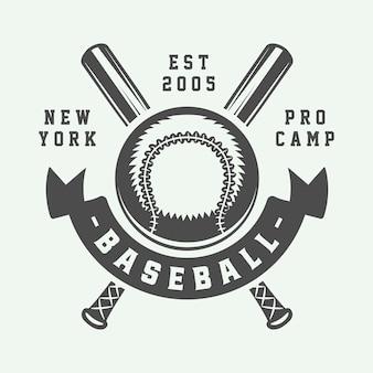 Logo de beisbol de beisbol