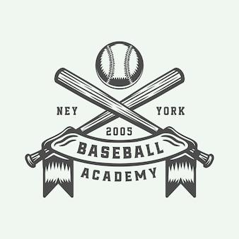 Logo de beisbol vintage
