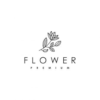 Logo de belleza con una flor