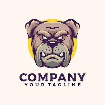 Logo de bulldog enojado