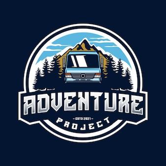 Logo de bus de aventura