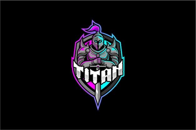 Logo de caballero titán