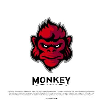 Logo de cabeza de mono