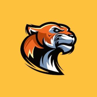 Logo de cabeza de tigre