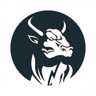 Logo de cabeza de toro