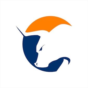 Logo de cabeza de toros