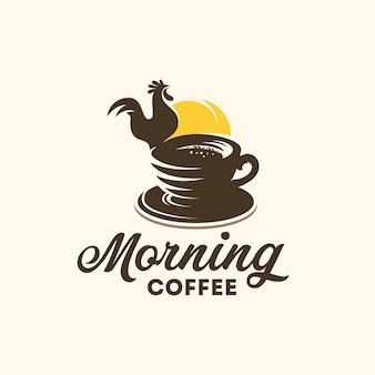 Logo de café de la mañana