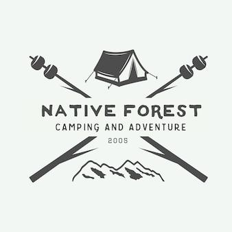 Logo de camping al aire libre