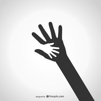 Logo de caridad de manos