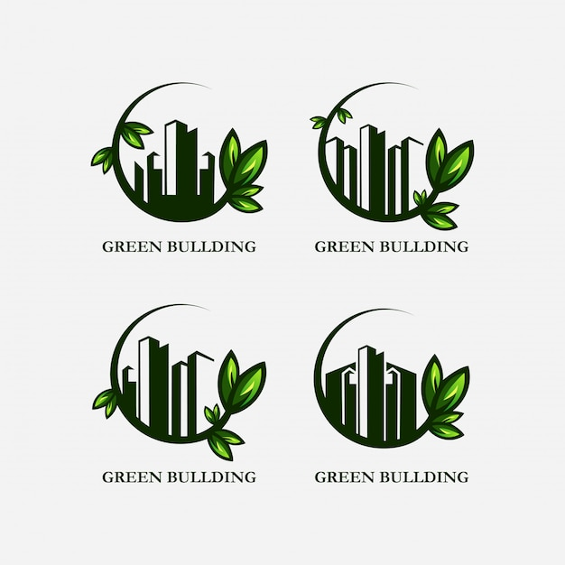 Logo de casa verde