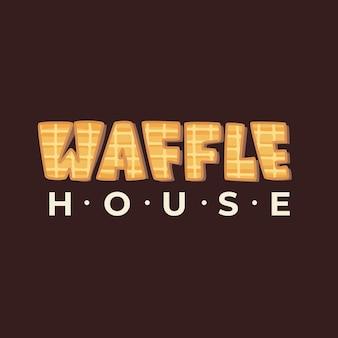 Logo de la casa de waffles