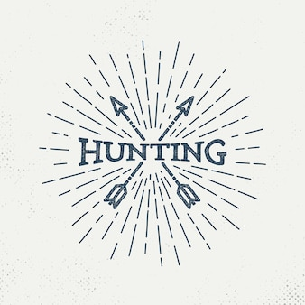 Logo de caza retro