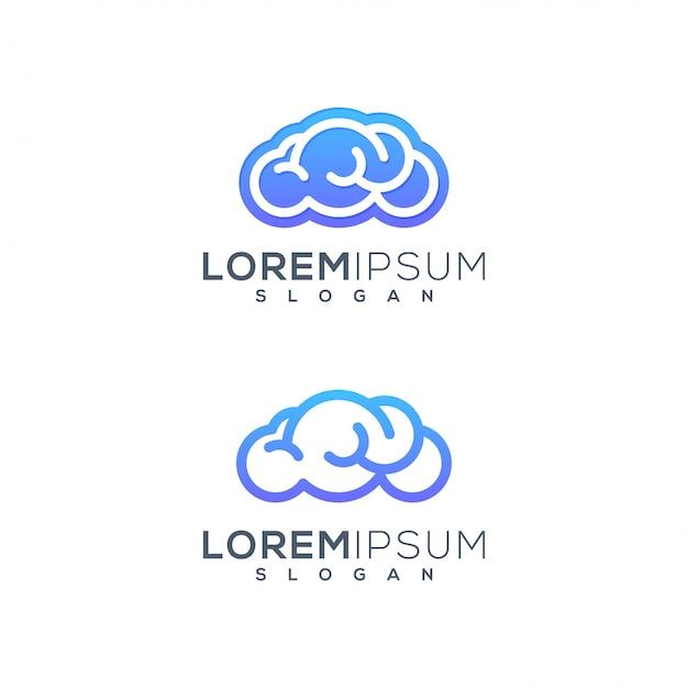 Logo de cerebro de nube