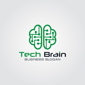 Logo de cerebro tecnológico