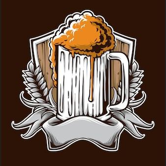 Logo de cerveza vintage