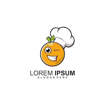 Logo de chef naranja
