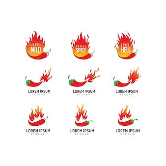Logo de chile extra picante, chef, comida picante, festival de comida picante,
