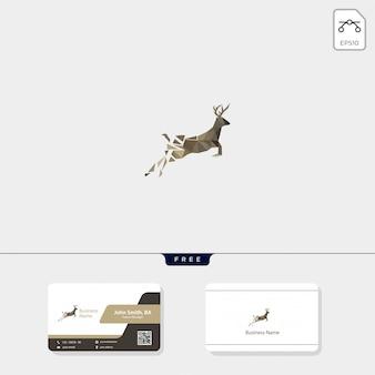 Logo de ciervo y diseño de tarjeta de visita.