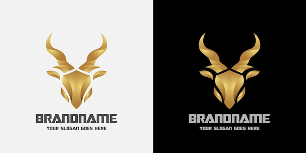 Logo de ciervo de lujo