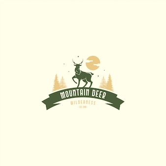 Logo de ciervos vintage