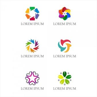 Logo circular abstracto