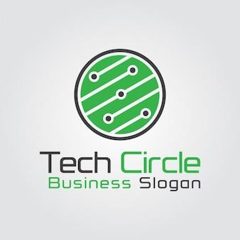 Logo circular de tecnología