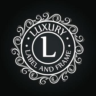 Logo de círculo con diseño de adorno