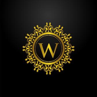 Logo de círculo de lujo