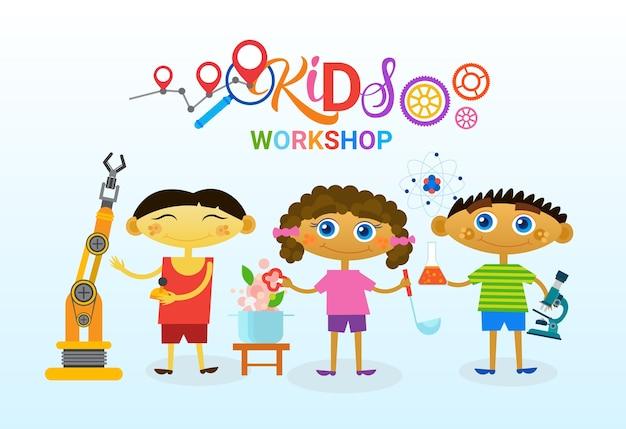 Logo de clases de arte para niños
