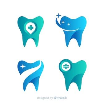 Logo de clínica dental degradado