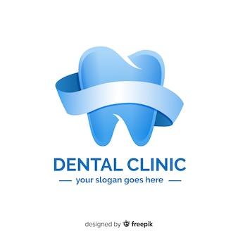 Logo de clínica dental con degradado