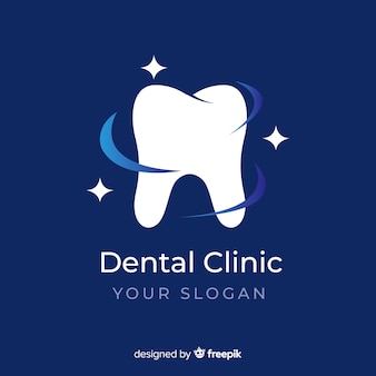 Logo de clínica dental con degradado